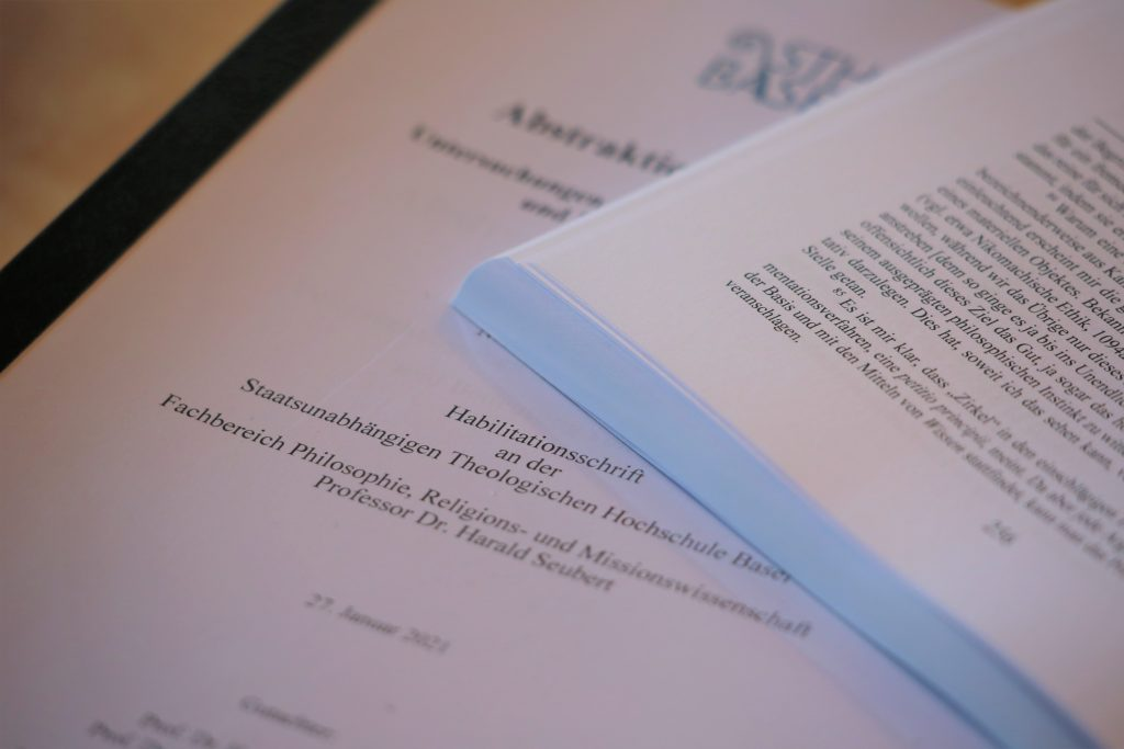 Habilitation An Der Sth Basel Habilitationsschrift