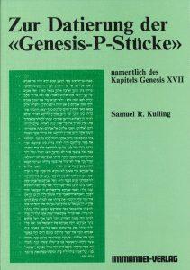 Zur Datierung Der Gensis P Stücke